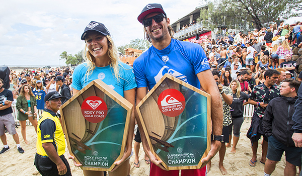 Gilmore and Wright back on top of the surfing world
