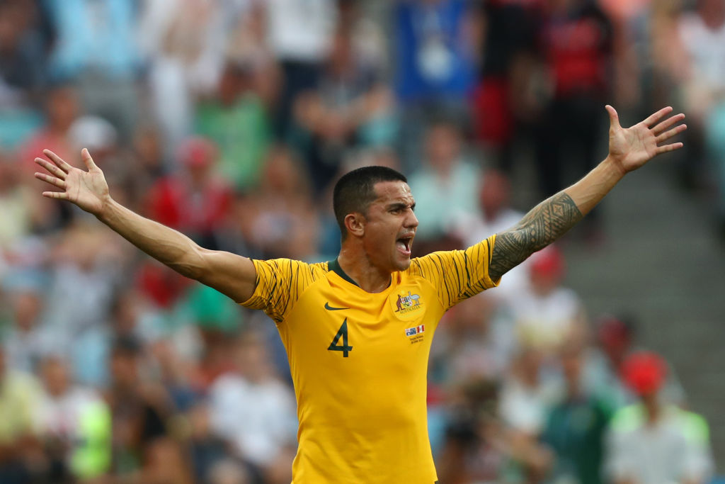 Tim Cahill hangs up green and gold boots