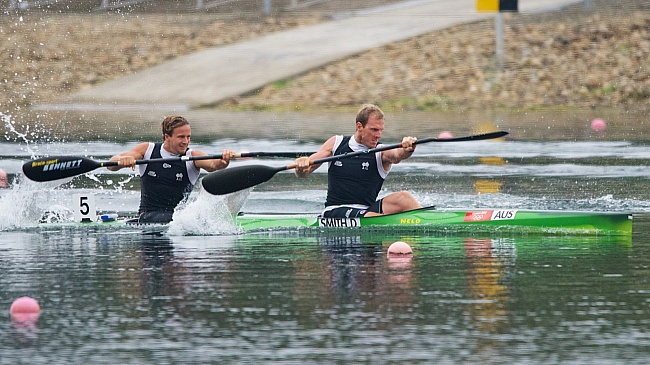 Walllace and Tame claim victory at ICF canoe sprint World Cup in Portugal