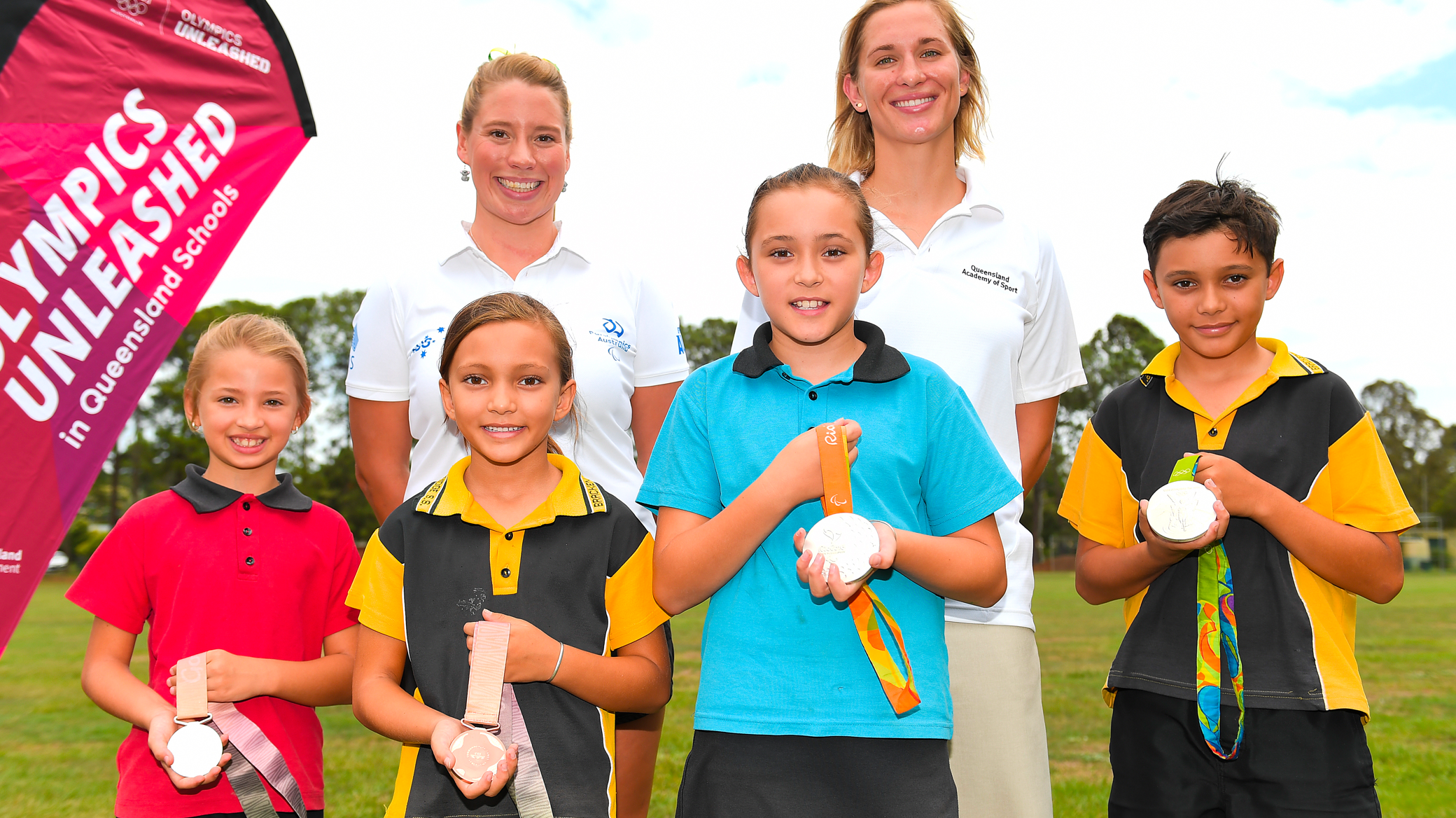 Hundreds of Queensland primary schools have welcomed athlete visits online and in person