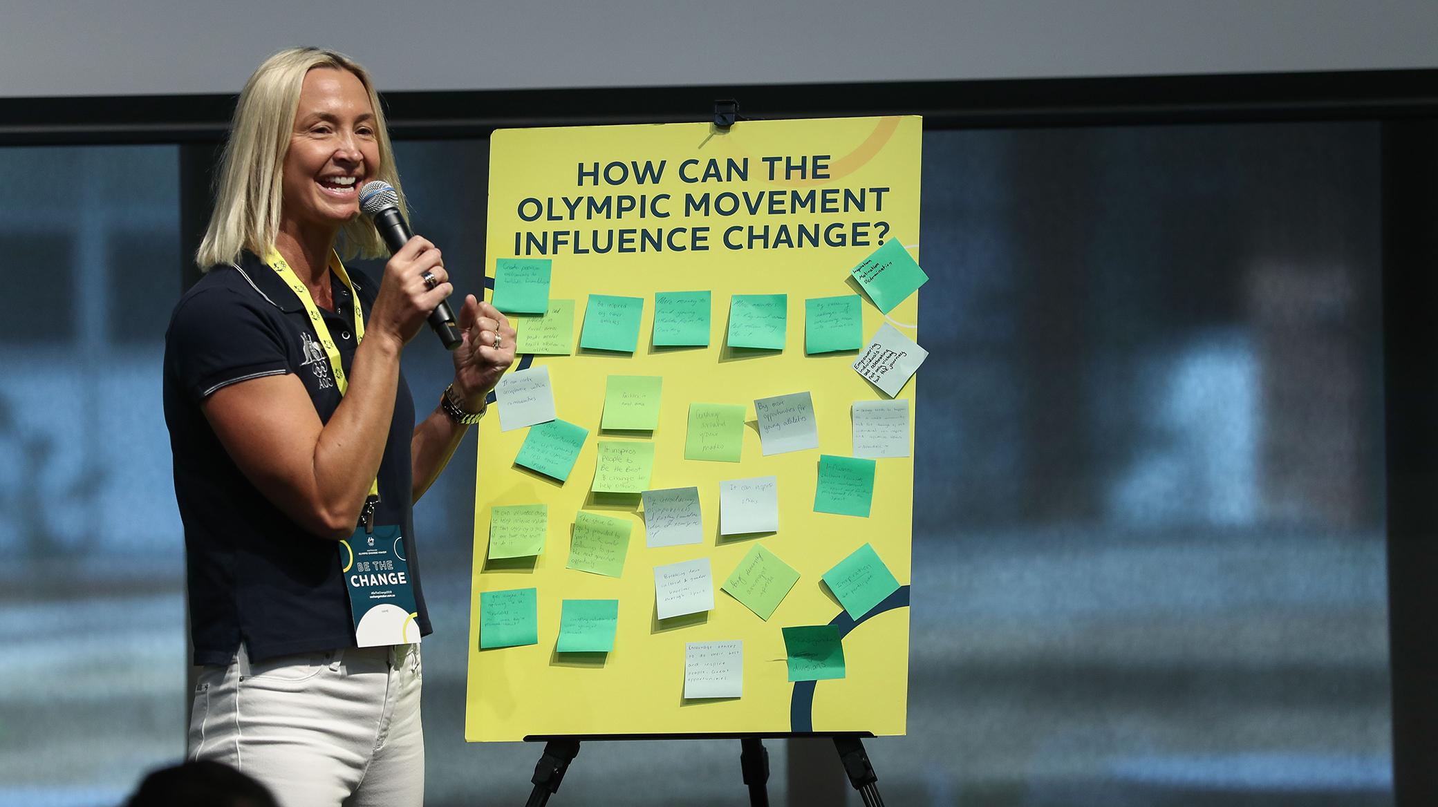 Brook Hanson explains how the Australian Olympic Change-Maker program works