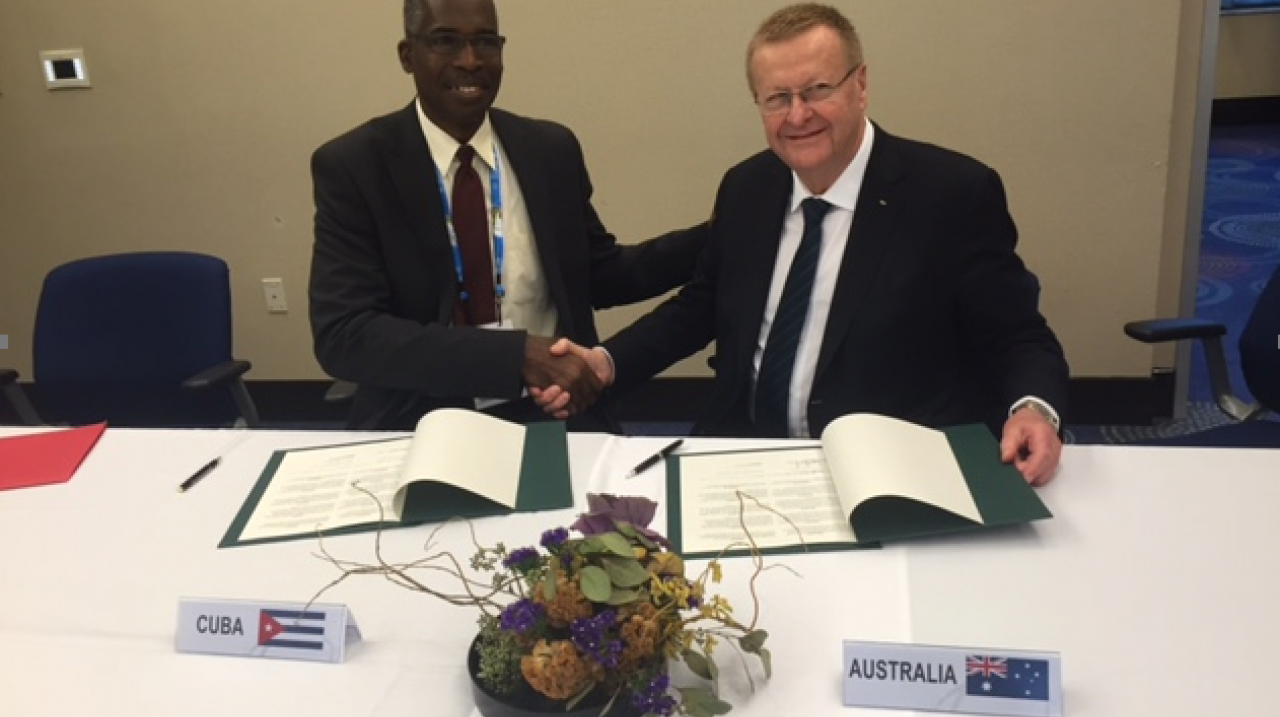 Australian and Cuban Olympic Committees sign co-operation agreement