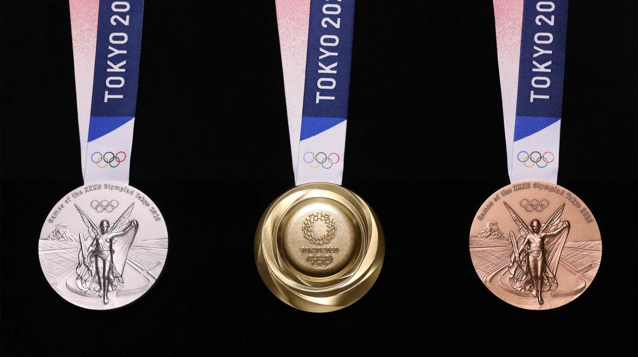 Designs for Tokyo 2020's Recycled Medals Unveiled