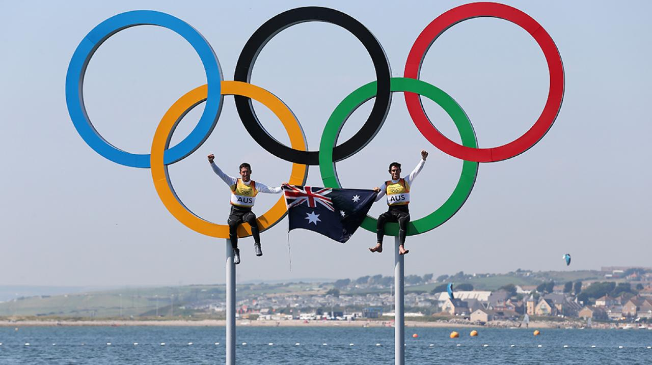 Australian Sailors in the Olympic Rings