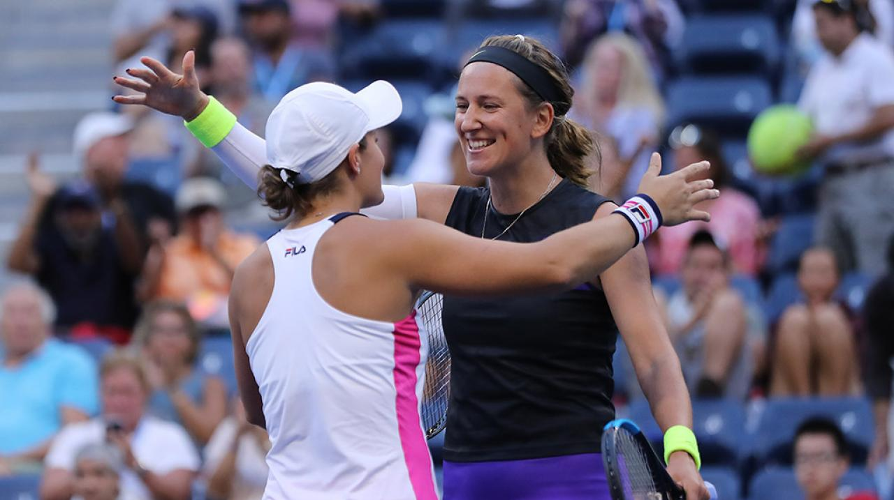 Barty and Azarenka US Open doubles 2019  - Getty Images