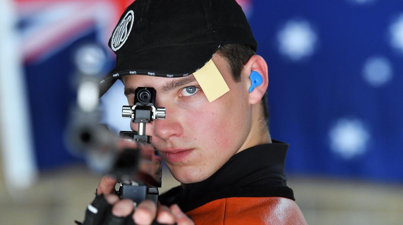 Alex Hoberg of South Australia during the Australia Olympic Games 50 metre Three Position Rifle Men Nomination Trials at the South Australia State Range at Wingfield on March 20, 2020 . (Photo by Mark Brake/Getty Images)