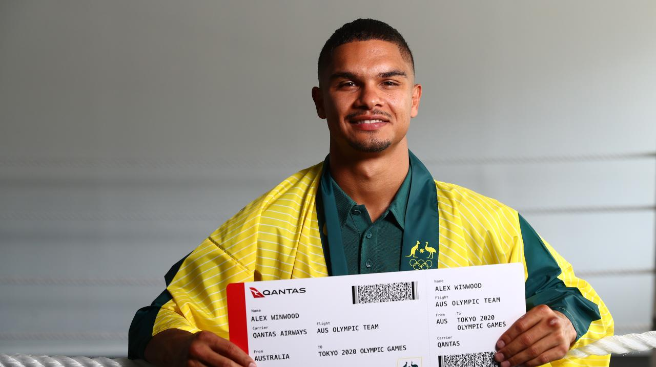 Alex Winwood poses after the announcement of the Australian boxing squad for the 2020 Tokyo Olympic Games, at Gold COast PCYC on May 04, 2021 in Gold Coast, Australia. (Photo by Chris Hyde/Getty Images)