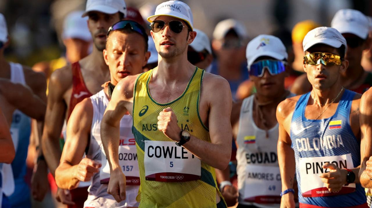 Rhydian Cowley in the 50km walk at Tokyo 2020