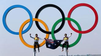 Australia with the Olympic Rings