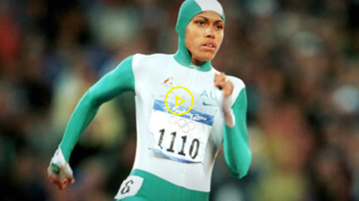 Watch video of Cathy Freeman winning gold at Sydney 2000
