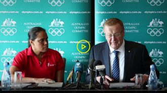 John Coates and Cathy Freeman announce Indigenous initiative